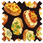 Got the Munchies? Loaded Baked Potato Food-C8498-Black from Timeless Treasures