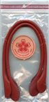 "Red Leather Purse Handles 16"" from Hobby and Land"