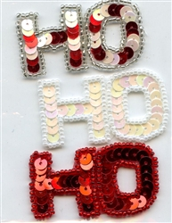 Sequined Applique Ho-Ho-Ho SM797S from Expo International
