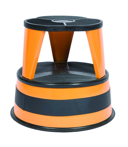 Step Stools Kik Step Orange Zest Rolling Step Stool