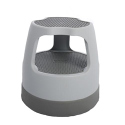 Gray Task*it Scooter Rolling Step Stool