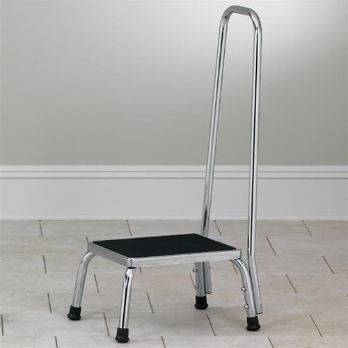 Step Stools Clinton Medical Step Stool With Hand Rails