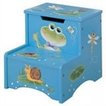 Teamson Design Froggy Collection Step Stool w/Storage