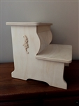 2-Step XXLarge Ornate Unfinished Step Stool