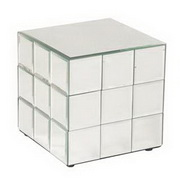 Howard Elliott Antares Short Mirrored Puzzle Cube Pedestal