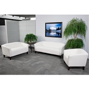 Flash Furniture HERCULES Imperial Series Reception Set in White [111-SET-WH-GG]