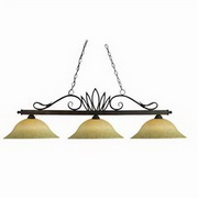 Z-Lite Players 3 Light Billiard Light in Weathered Bronze