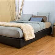 Howard Elliott Black Faux Leather Queen Boxspring Cover