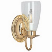Sea Gull Lighting Traditional 1-Light Brass Wall/Bath 4167-02