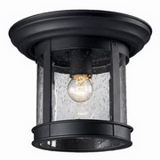 Z-Lite Outdoor Flush Mount 1-Light Ceiling Light 515F