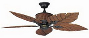 "Concord Fans 5 Blades 52"" Ceiling Fan in Rustic Iron"