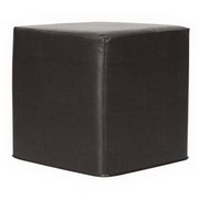 Howard Elliott Avanti Black No Tip Block Ottoman
