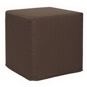 Howard Elliott Sterling Chocolate No Tip Block Ottoman
