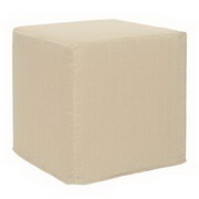 Howard Elliott Sterling Sand No Tip Block Ottoman