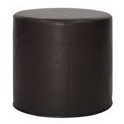 Howard Elliott Avanti Black No Tip Cylinder Ottoman