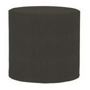 Howard Elliott Sterling Charcoal No Tip Cylinder Ottoman