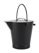 Achla All Black Ash Bucket