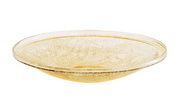 "Achla 14"" Apricot Ice Crackle Glass Bowl"