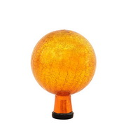 "Achla 6"" Gazing Globe, Mandarin, Crackle"