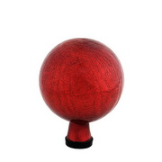 "Achla Gazing Ball 6"" Red Crackle"