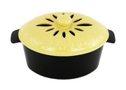 Achla Yellow / Lime Lotus Top Steamer