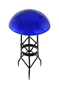 Achla Toad Stool - Blue - Crackle
