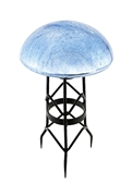 Achla Toad Stool - Blue Lapis - Crackle