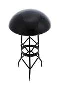 Achla Toad Stool - Black Smoke - Crackle