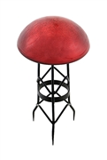 Achla Toad Stool Red Crackle