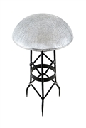 Achla Toad Stool - Silver - Crackle