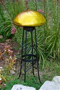 Achla Toad Stool - Yellow - Crackle
