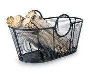 Achla Wood Basket - Steel Wire - Small