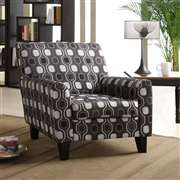 Armen Living Fiesta Club Chair In Gray Circles Fabric (LC2010FAGRAY)