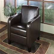 Armen Living 1400 Brown Leather Club Chair (LCMS0011DB)