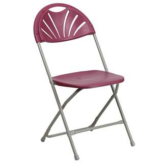 HERCULES Series 440 lb. Capacity Burgundy Plastic Fan Back Folding Chair [BH-D0002-BG-GG]