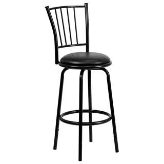 29'' Black Metal DUAL Height Counter or Bar Stool [BS-6109-24-29-BK-GG]