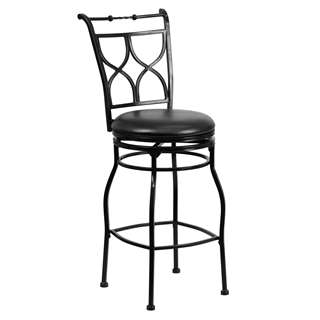29'' Black Metal Bar Stool [BS-6317-29-BK-GG]