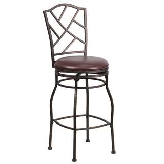 29'' Brown Metal Bar Stool [BS-6320-29-BN-GG]