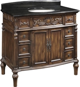 Classic Design Single Sink Victorian Vanity (Q012-40)