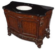 Classic Design Single Vanity-Black Marble (Q031)