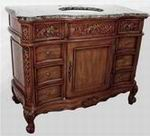 Classic Design Single Vanity-Brown Marble (Q076-48)