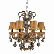 Julianne 6-Light Chandelier In Black Chrome And Golden Amber Glass [24001/6]image
