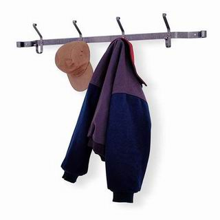 Enclume Hat And Coat Rack in Hammered Steel [HCR4]