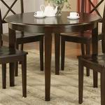 "East West Boston table 42"" Round with 4 tapered legs [BT-CAP-T]"