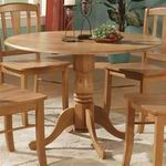 "East West Dublin Round Table with two 6"" Drop Leaves [DT-OAK-T]"