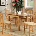 "East West Norfolk rectangular dinette kitchen table 32""54"" with 12"" Butterfly Leaf -Oak [NFT-OAK]"
