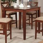 "East West 36""-Square Counter Height Pub Set table in Dark Brown [PBT-BRN]"
