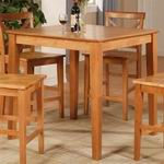 "East West 36""-Square Counter Height Pub Set table in Oak [PBT-OAK]"