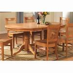 East West Vancouver Double Table Pedestal [VT-OAK-B]