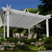 New England  Camelot Louvered Pergola